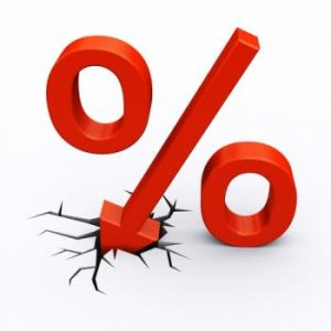 low interest rate symbol