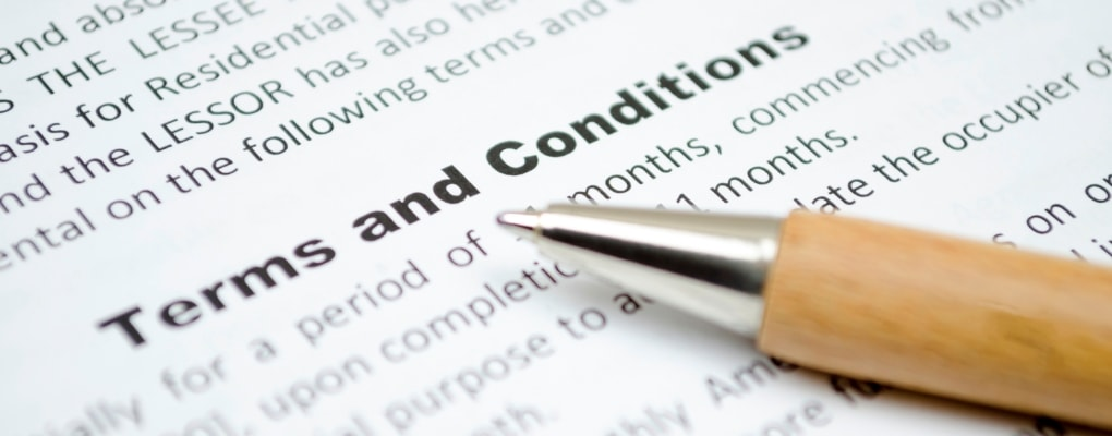 Choosing the right terms and conditions